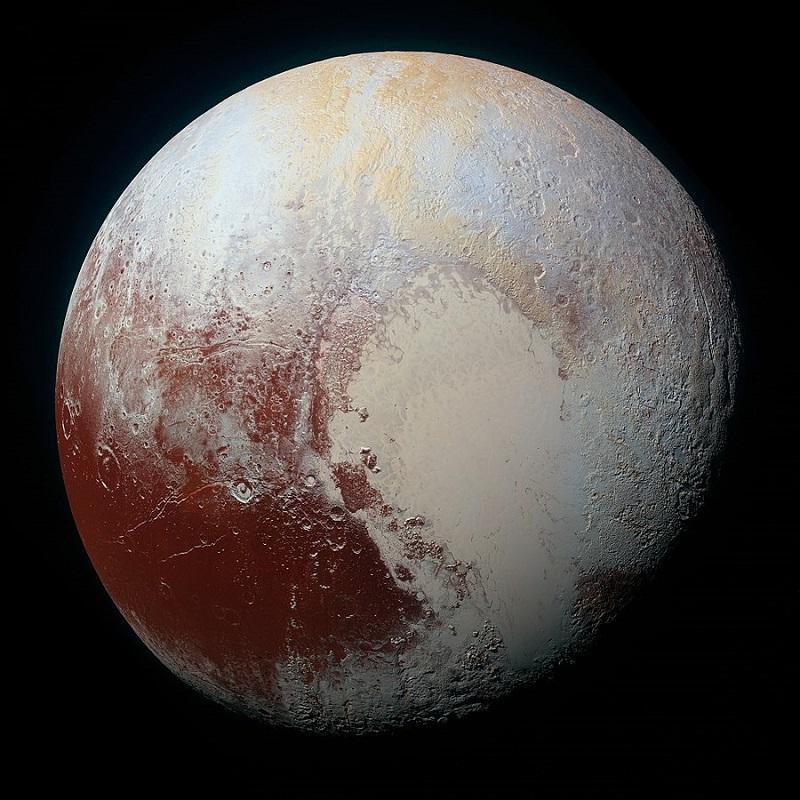 color photo of Pluto