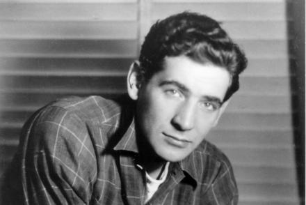 b&w headshot of the young Leonard Bernstein