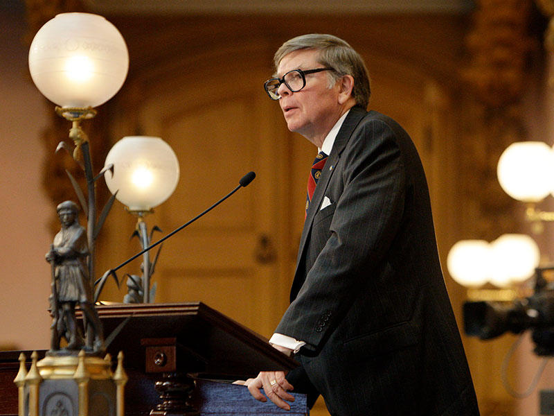 Then Ohio House Speaker William Batchelder (R-Medina) presides over the floor debate about Senate Bill 5 Wednesday, March 30, 2011.