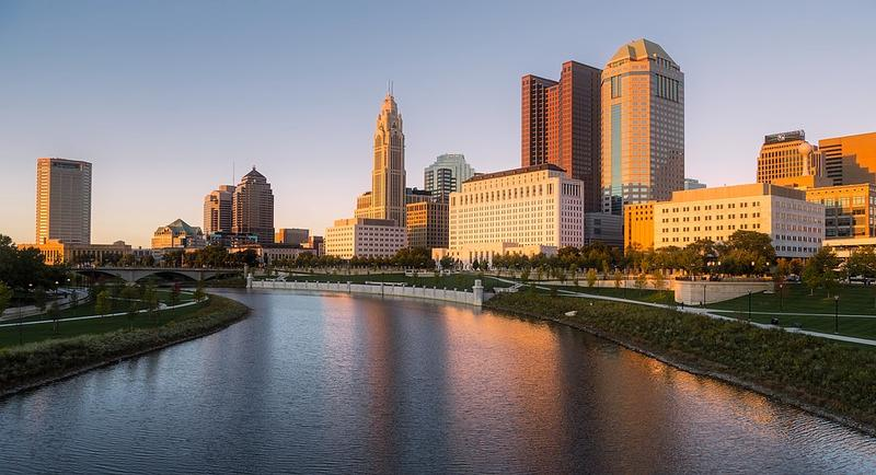 The riverfront at downtown Columbus, Ohio is the site for the 2018 Columbus Arts Festival.