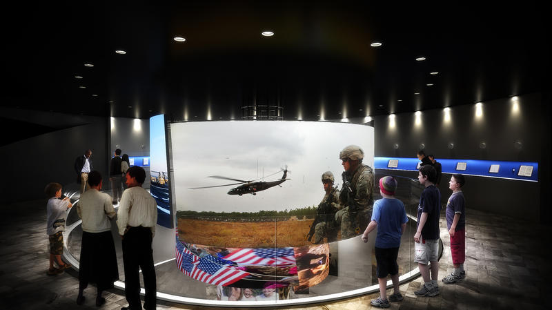 An artist's rendering of the inside of the National Veterans Memorial and Museum in Columbus.