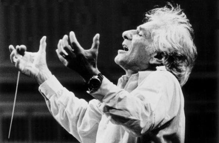 Leonard Bernstein's expression says it all.