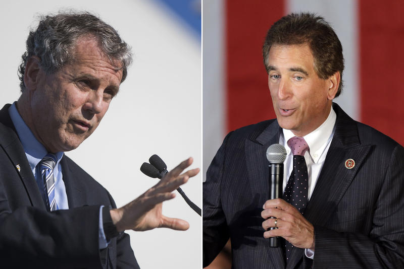 Ohio's Senate candidates, incumbent Democrat Sherrod Brown and Republican U.S. Rep. Jim Renacci.