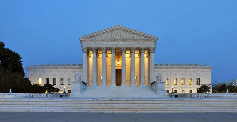 Panorama of United States Supreme Court Building.