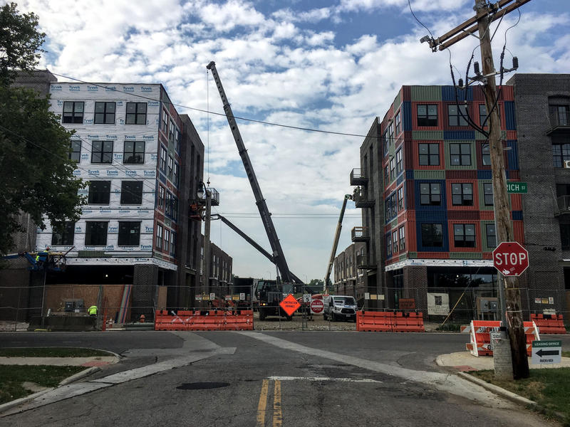 Construction at River & Rich in Franklinton.