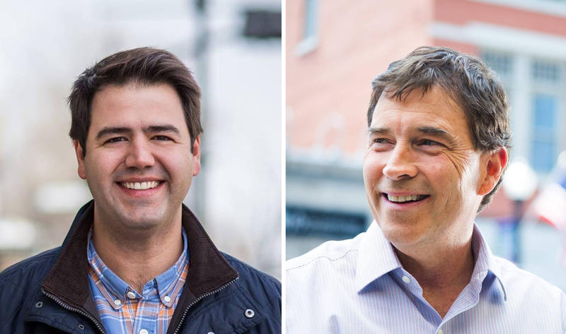 Ohio 12th District congressional candidates Danny O'Connor (left) and Troy Balderson (right).