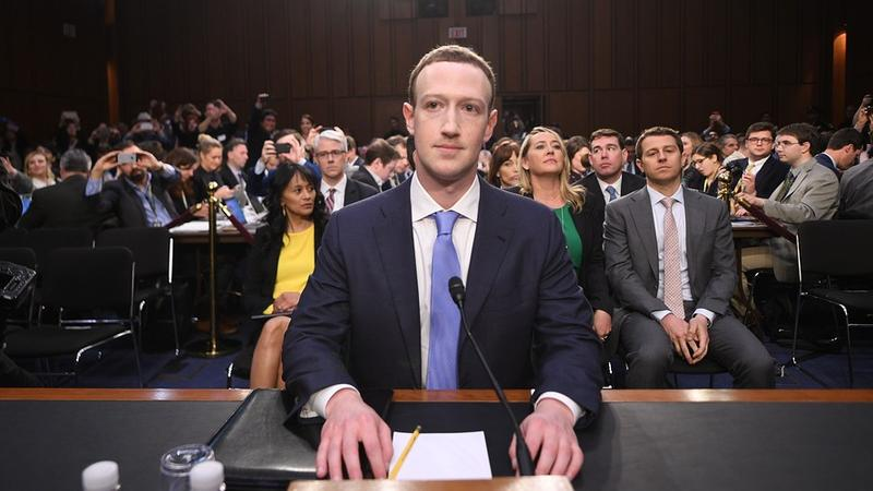 Facebook CEO Mark Zuckerberg at his testimony before Congress in April.
