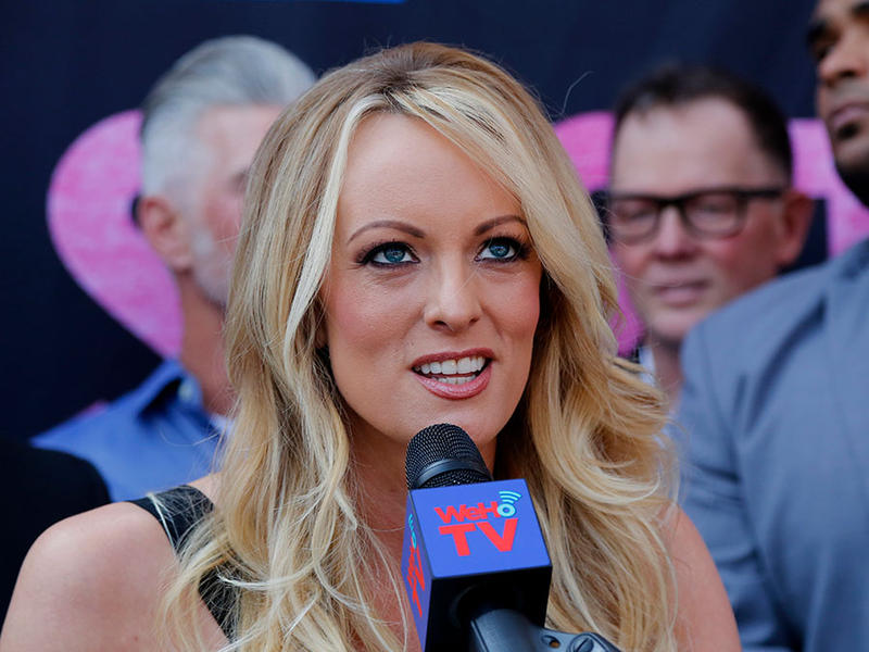 Stormy Daniels speaks during a ceremony for her receiving a City Proclamation and Key to the City on Wednesday, May 23, 2018 in West Hollywood, Calif.