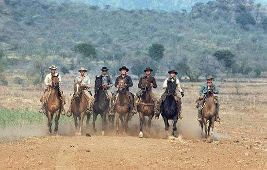 Scene from 1960 film The Magnificent Seven, directed by John Sturges