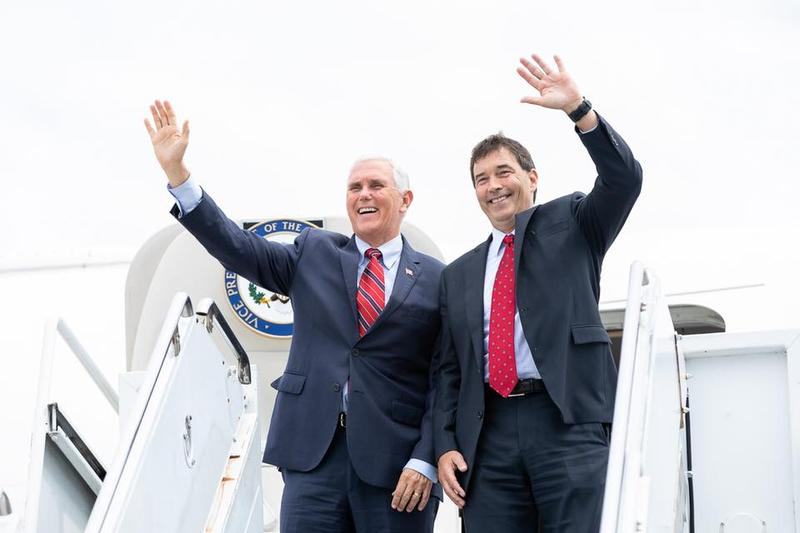 Vice President Mike Pence appeared at a Newark rally for Congressional candidate Troy Balderson on Monday.