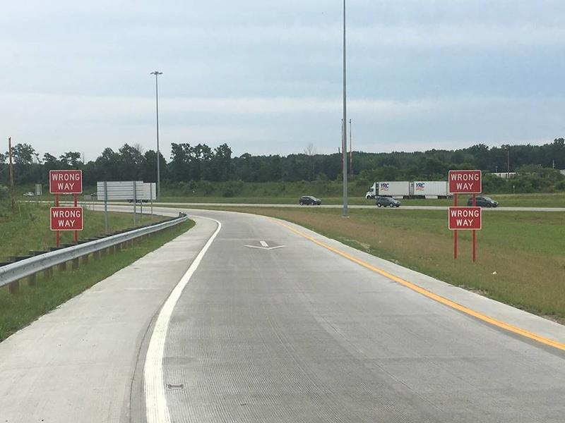 New directional arrows have been popping up on area exit ramps, along with wrong-way signs at lower levels more in-line with where impaired drivers tend to look.