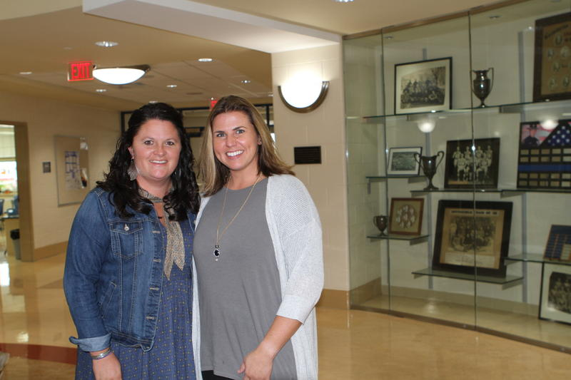 Beth Day, (l) and Paige Bihl (r) former ECOT teachers now work at Washington High School