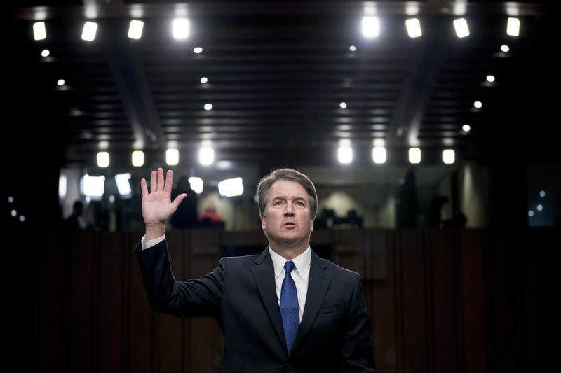 President Donald Trump's Supreme Court nominee Brett Kavanaugh is sworn-in before the Senate Judiciary Committee on Capitol Hill in Washington, Tuesday, Sept. 4, 2018.