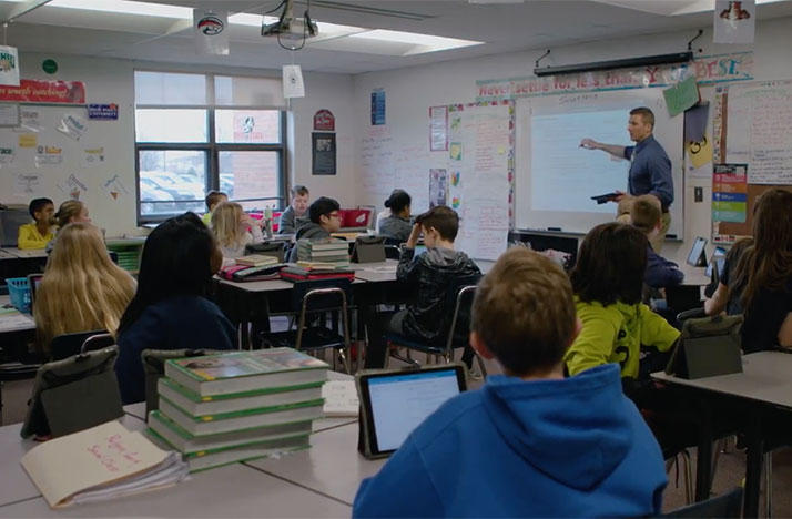 School districts like Hilliard have implemented iPads in the classroom.