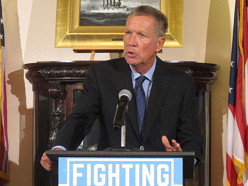 Gov. John Kasich talks about the latest official fatal overdose numbers from the Ohio Department of Health at a Statehouse press conference.