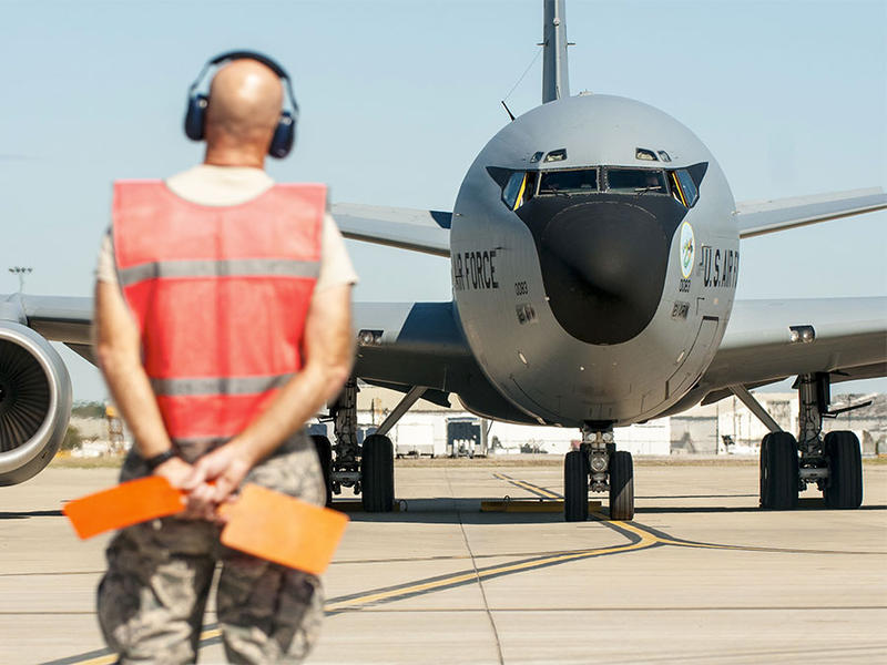 The Ohio National Guard 121st Air Refueling Wing at Rickenbacker Airport prepares to deliver soldiers, supplies and equipment in support Hurricane Maria relief efforts inPuerto Rico on October 3, 2017.