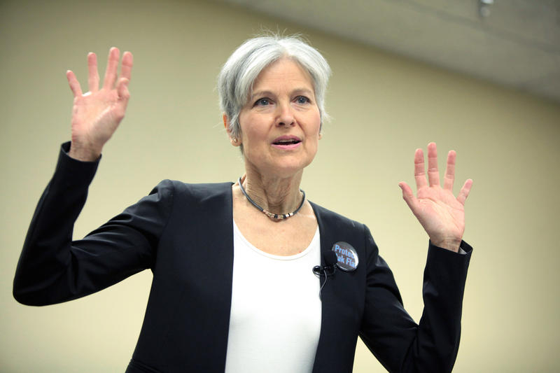 Jill Stein speaking at the Green Party Presidential Candidate Town Hall in Mesa, Arizona.