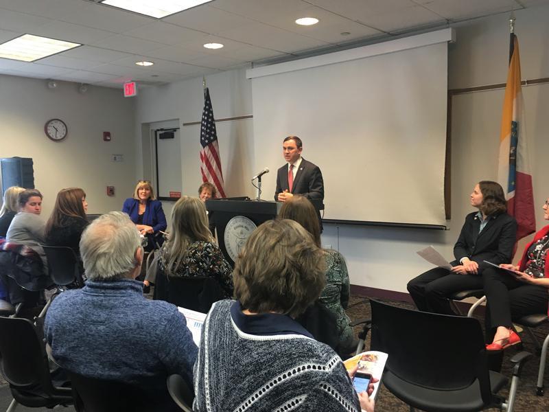"Columbus Council president pro tem Michael Stinziano announces a new senior living ""village"" in the Hilltop."