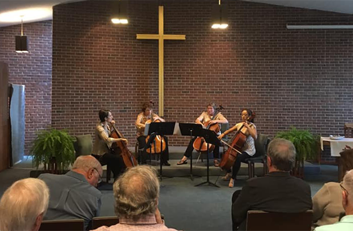 UCelli recently premiered a new arrangement by Columbus composer Richard Jordan Smoot at Highlands Presbyterian Church.