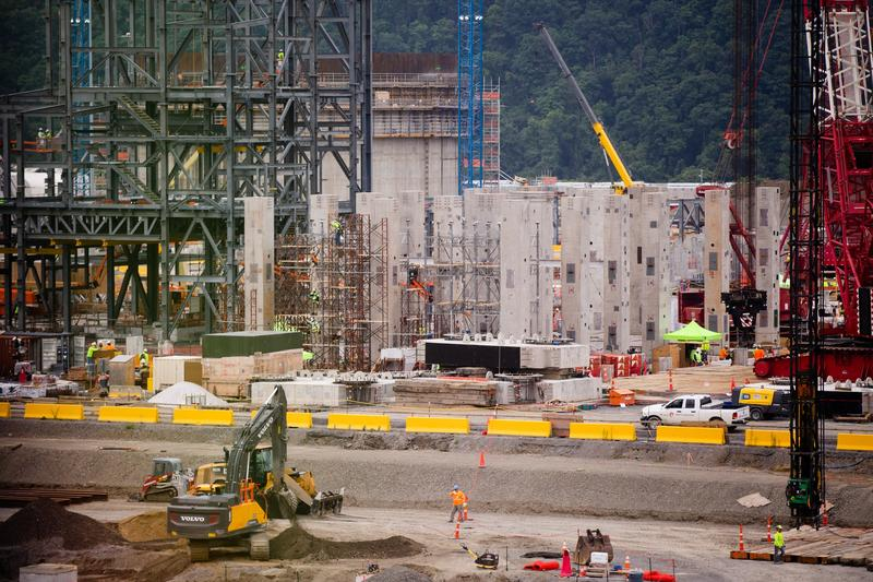Construction is well underway on Shell's $6 billion ethane cracker plant along the Ohio River.
