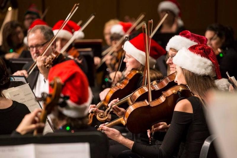 The New Albany Symphony performs during the orchestra's 2017 Holiday Spectacular.