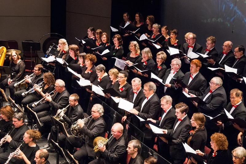 color photo of Mansfield Symphony Orchestra and Chorus in performance