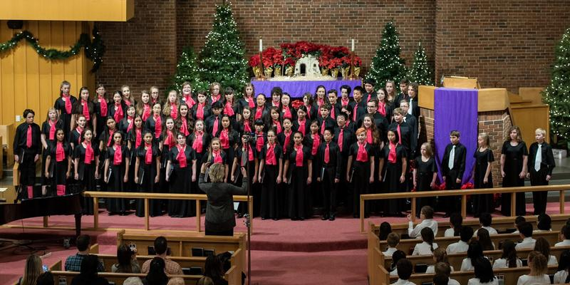 The Columbus International Children's Choir performs during the 2016 winter concert.