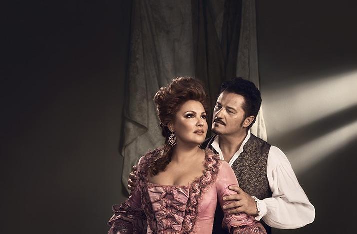 Anna Netrebko as Adriana and Piotr Beczala as Maurizio in Adriana Lecouvreur