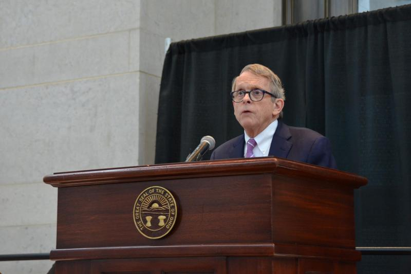 Gov. Mike DeWine speaks with addiction treatment providers in Columbus on Jan. 29, 2019.