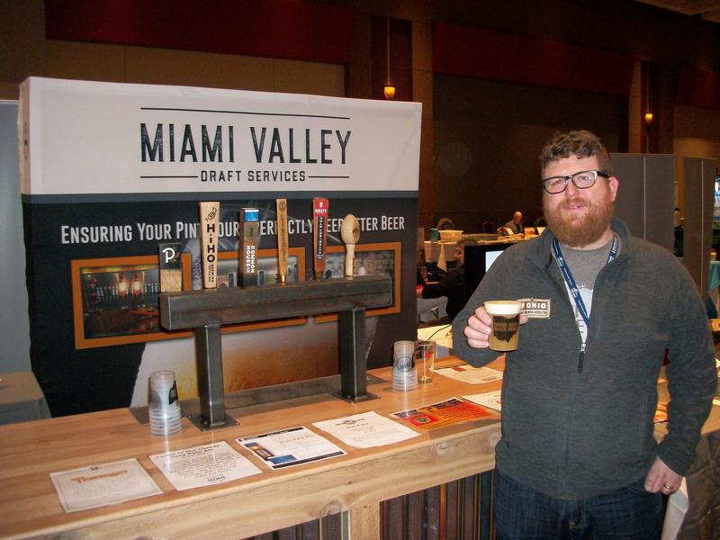 Justin Hemminger, deputy director of the Ohio Craft Brewers Association, at their conference in downtown Columbus.