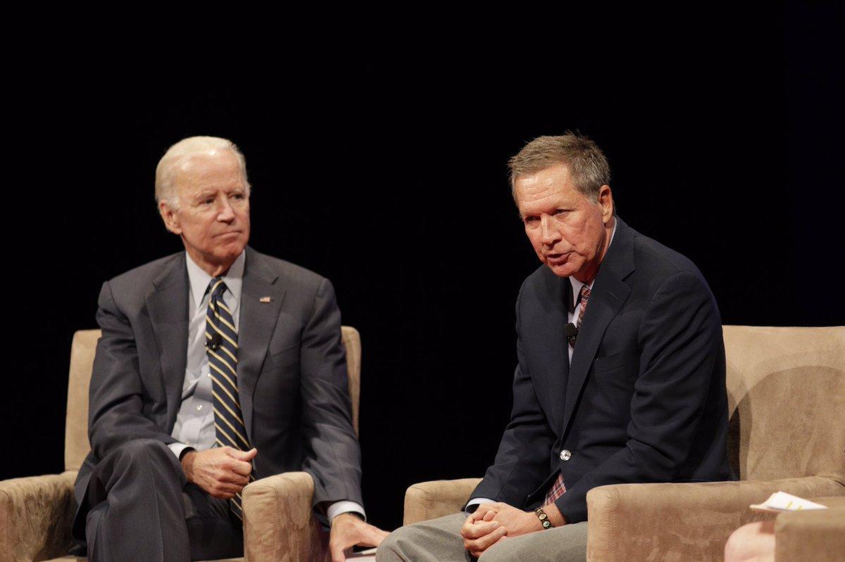 In Joint Appearance, Biden And Kasich Condemn Breakdown Of ...