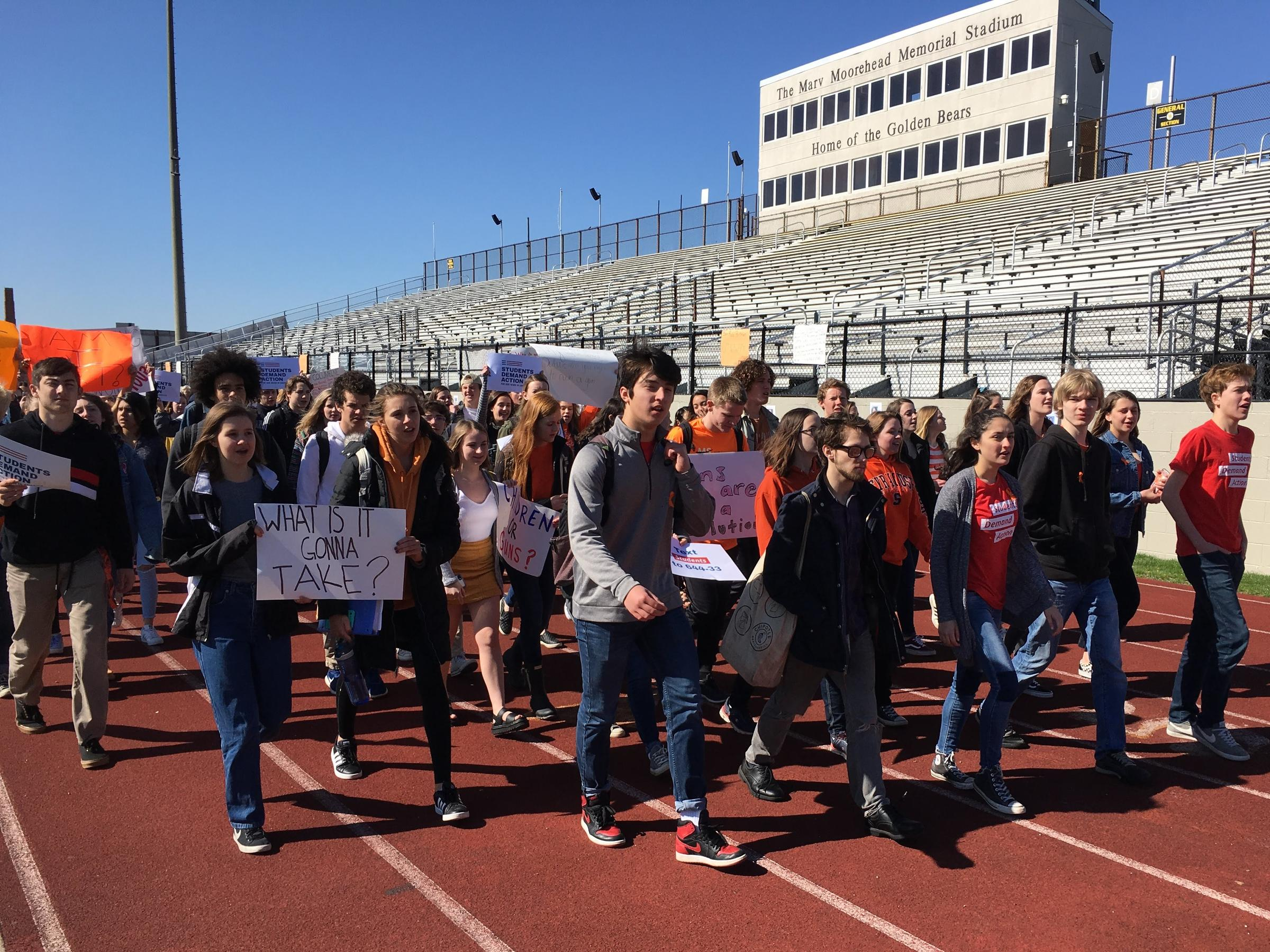 Students Walk Out Of School On Columbine Shooting's 19th Anniversary