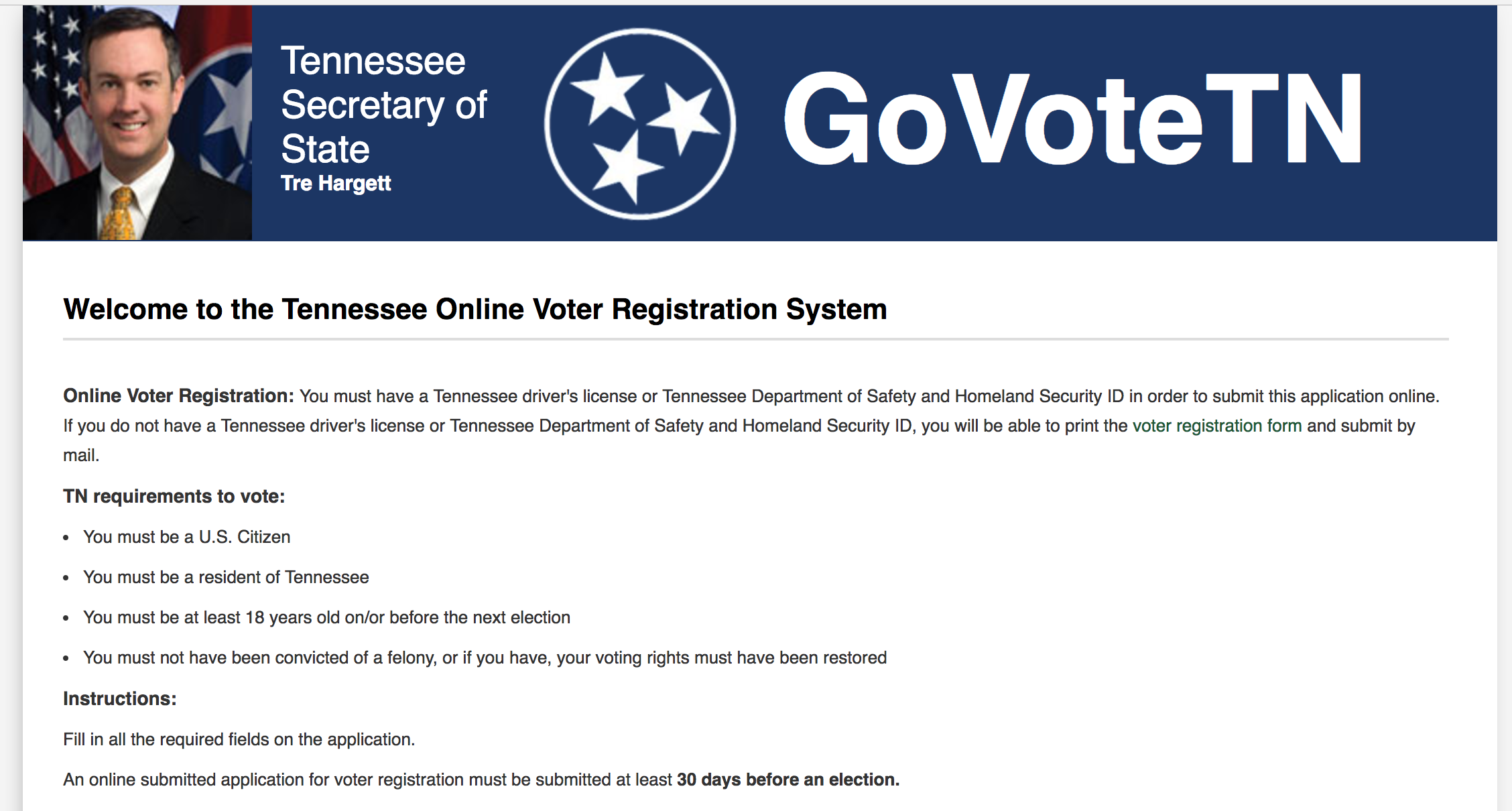 After A Year In The Works, Online Voter Registration Goes Live In ...