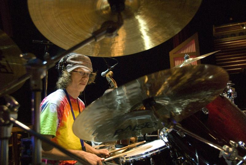 Brendan LeMieux, 22, plays the drums during Vanderbilt's summer camp for adults with Williams syndrome in 2009.