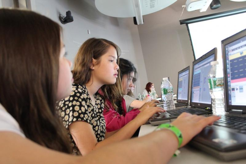 Getting more students interested in technology jobs should start before they reach college, the Nashville Technology Council says. Pictured: Girls in Nashville learn how to program computer games.