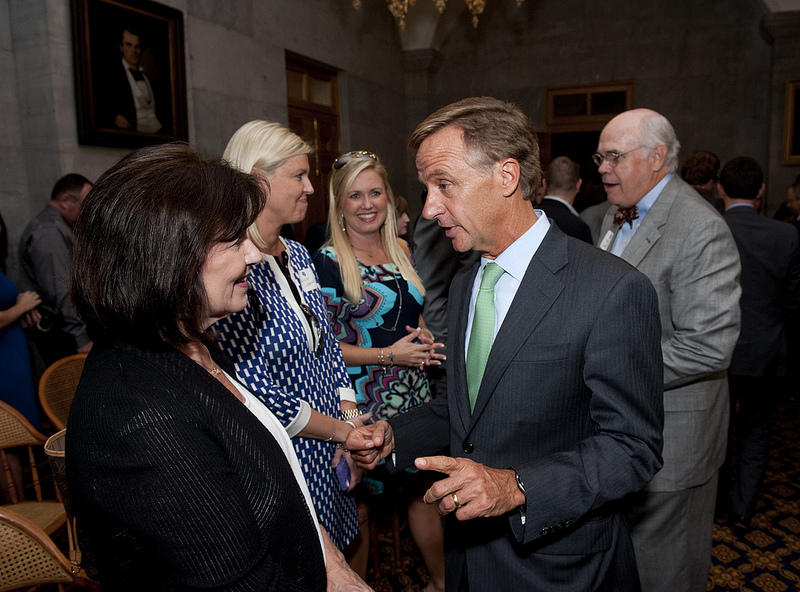 In October of 2013, Governor Bill Haslam made his commitment to pay teachers more with many educators in the room.