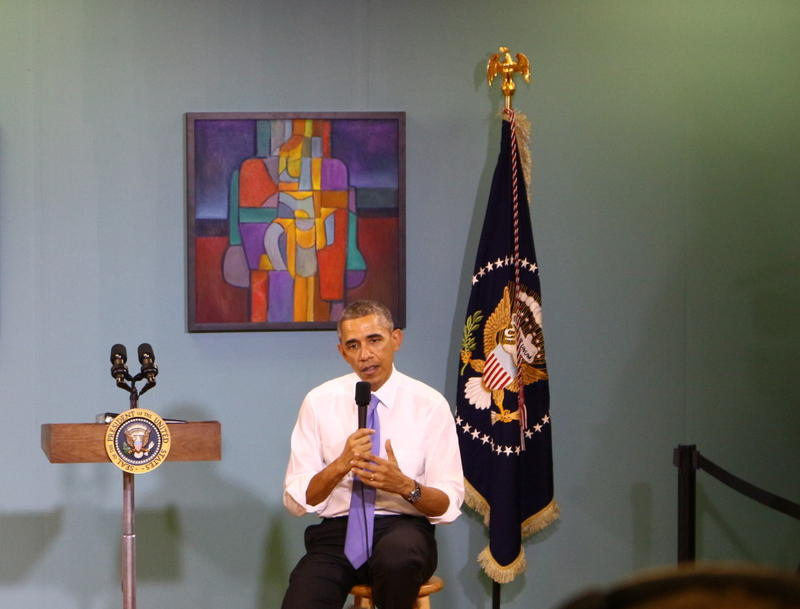 President Obama addresses a small group at Casa Azafran in South Nashville in December to talk about immigration reform. No one in the Republican congressional delegation attended. Tennessee's governor and both U.S. Senators will attend his education spee