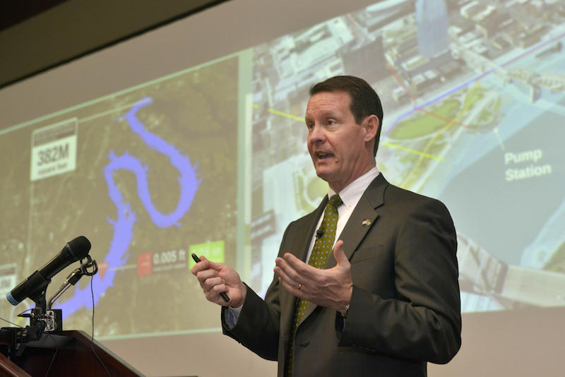 Metro Water director Scott Potter began making a case for building a flood protection system around downtown Nashville in 2015.