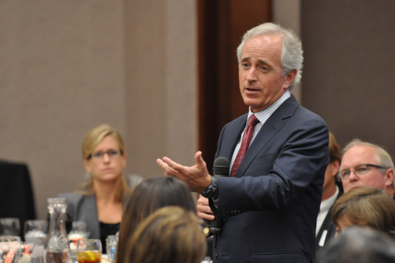 "Tennessee Sen. Bob Corker said President Trump is ""obviously not going to rise to the occasion as president."""