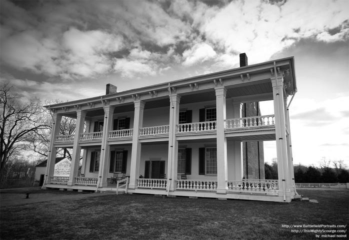 The back porch of the historic Carnton Plantation, in Franklin, Tenn.