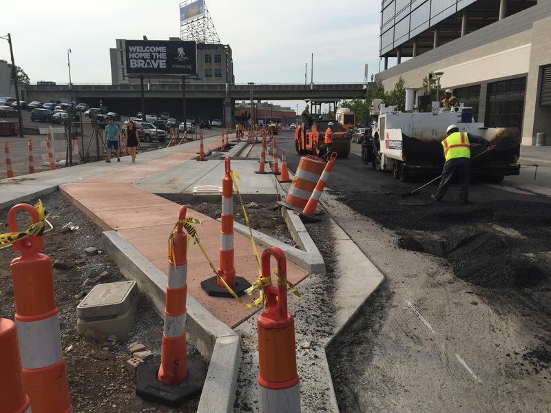 Nashville complete streets buffered bike lane