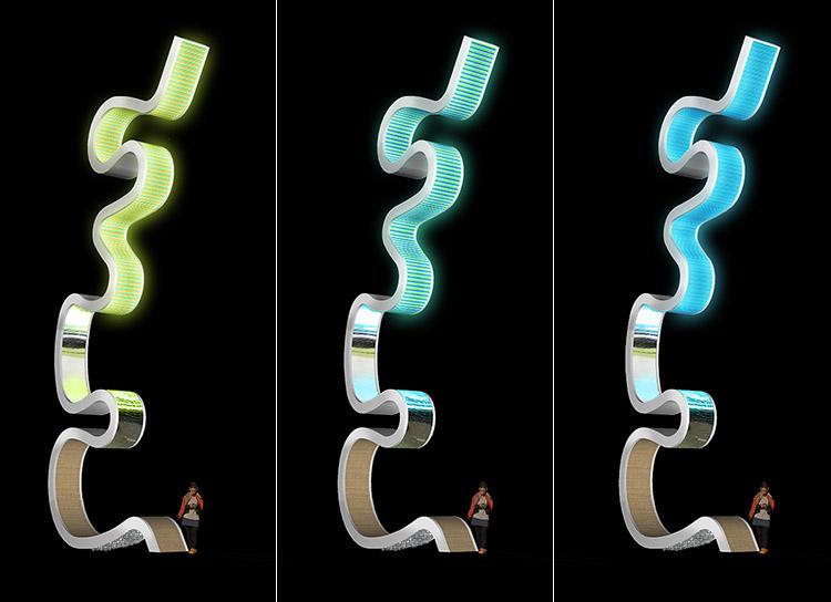 Light Meander illuminated art Nashville