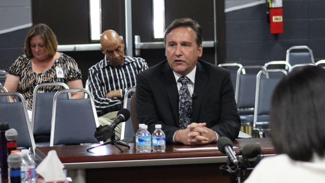 Superintendent Mike Looney speaks when he was interviewing to be Nashville's superintendent — a job he turned down.