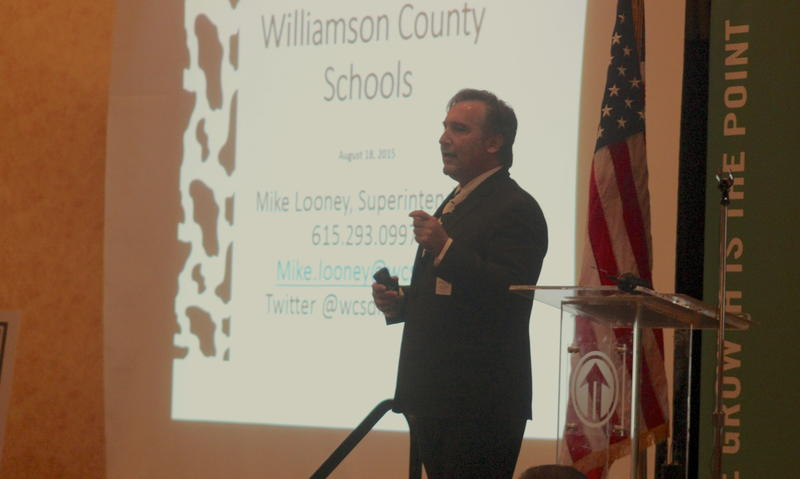 Williamson County Schools superintendent Mike Looney has been the lead cheerleader for increasing funding by whatever means necessary, including tax increases.