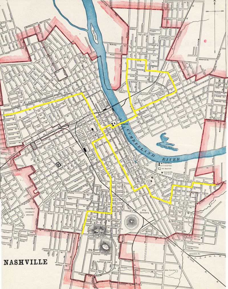 For roughly nine months, the black-owned Union Transportation streetcar lines stretched in several directions to turn-of-the-century Nashville's city limits.