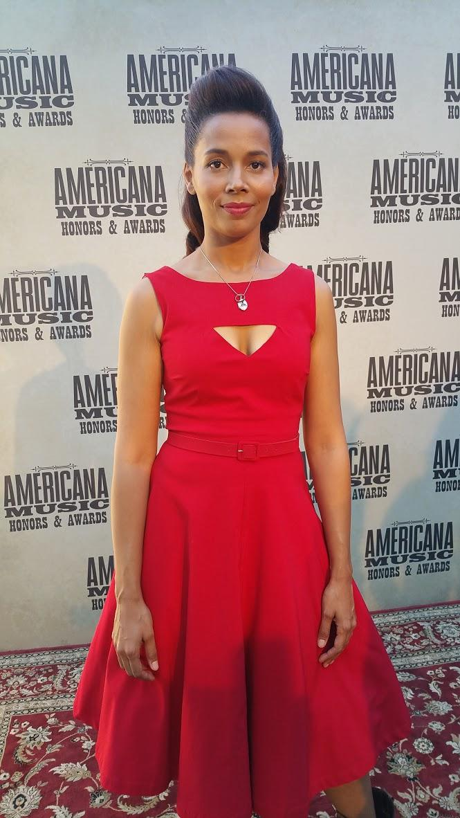 Rhiannon Giddens performed during the Americana Music Awards Show.