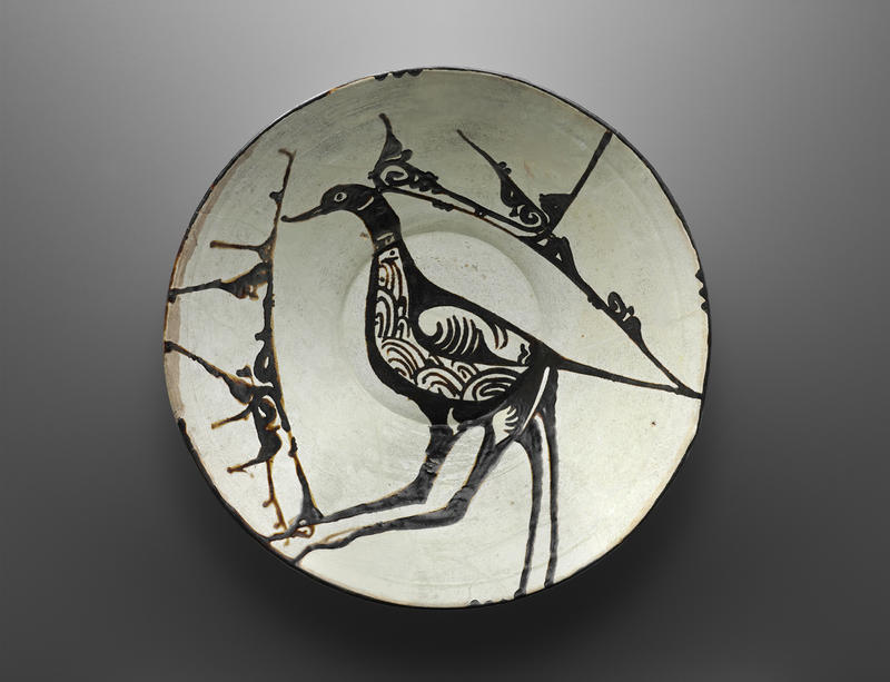 """This bowl with a peacock design may date back as far as the 10th century. It's among the pieces that'll be on display in the Frist's upcoming exhibition """"Ink, Silk & Gold."""""""