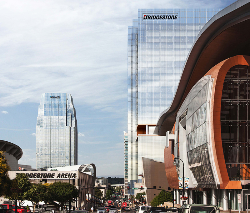 Bridgestone Americas is building a new 30-story headquarters in downtown Nashville. This rendering shows what it will look like when it's finished.