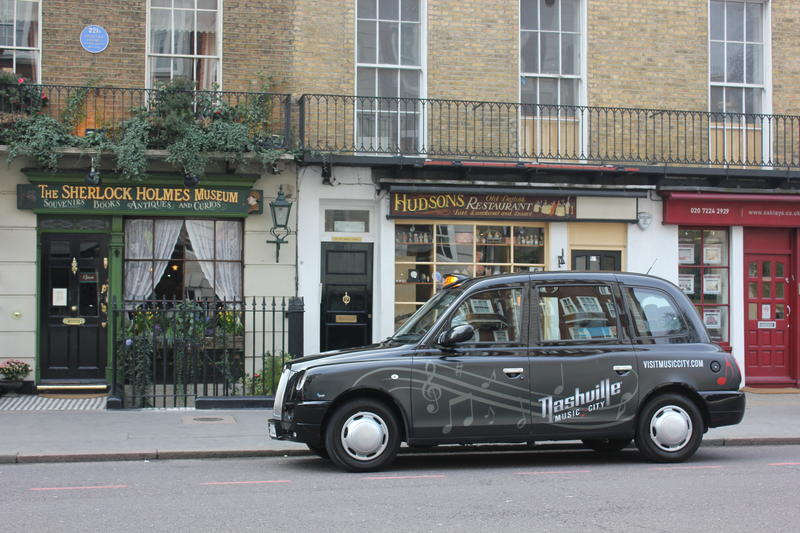 About 160 taxis promoting Nashville are driving around London through mid-November.