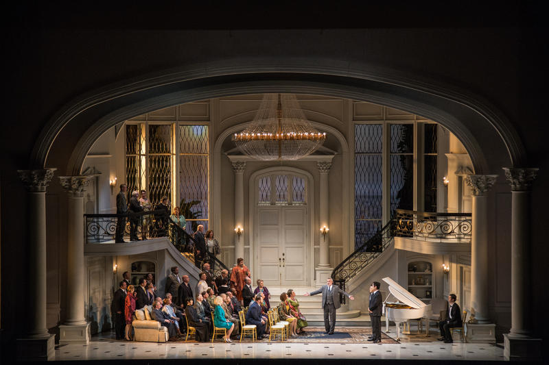 The main setting of Bel Canto, as seen on stage at the Lyric Opera of Chicago